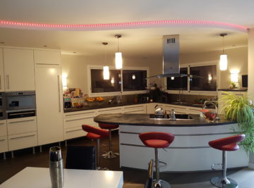 Aménagement cuisine, mesnard la barotière illuminé