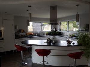Aménagement cuisine, mesnard la barotière, plan large