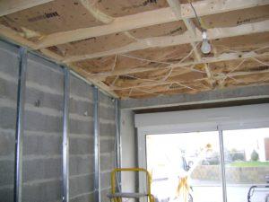 garage vers chambre plafond