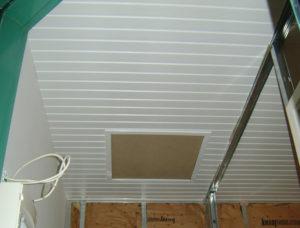 plafond terminé et trappe