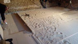 Rénovation plancher, granulat